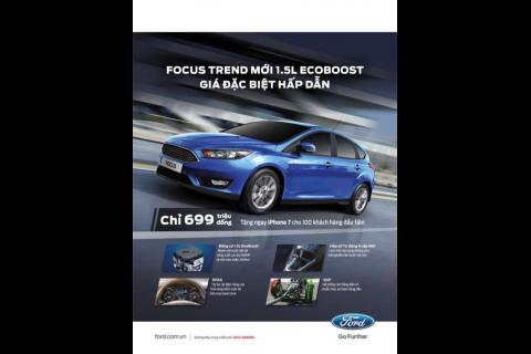 Xe Ford Focus 1.5L Ecoboost Giá Rẻ Tung Ra Thị Trường Ôtô 2017